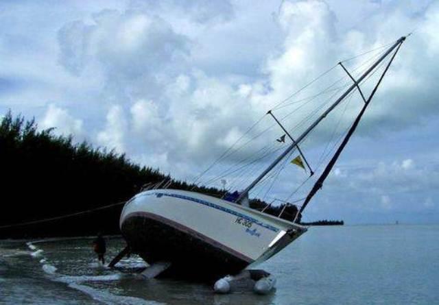 Лодка наклонилась, Виктория, Сейшельские острова