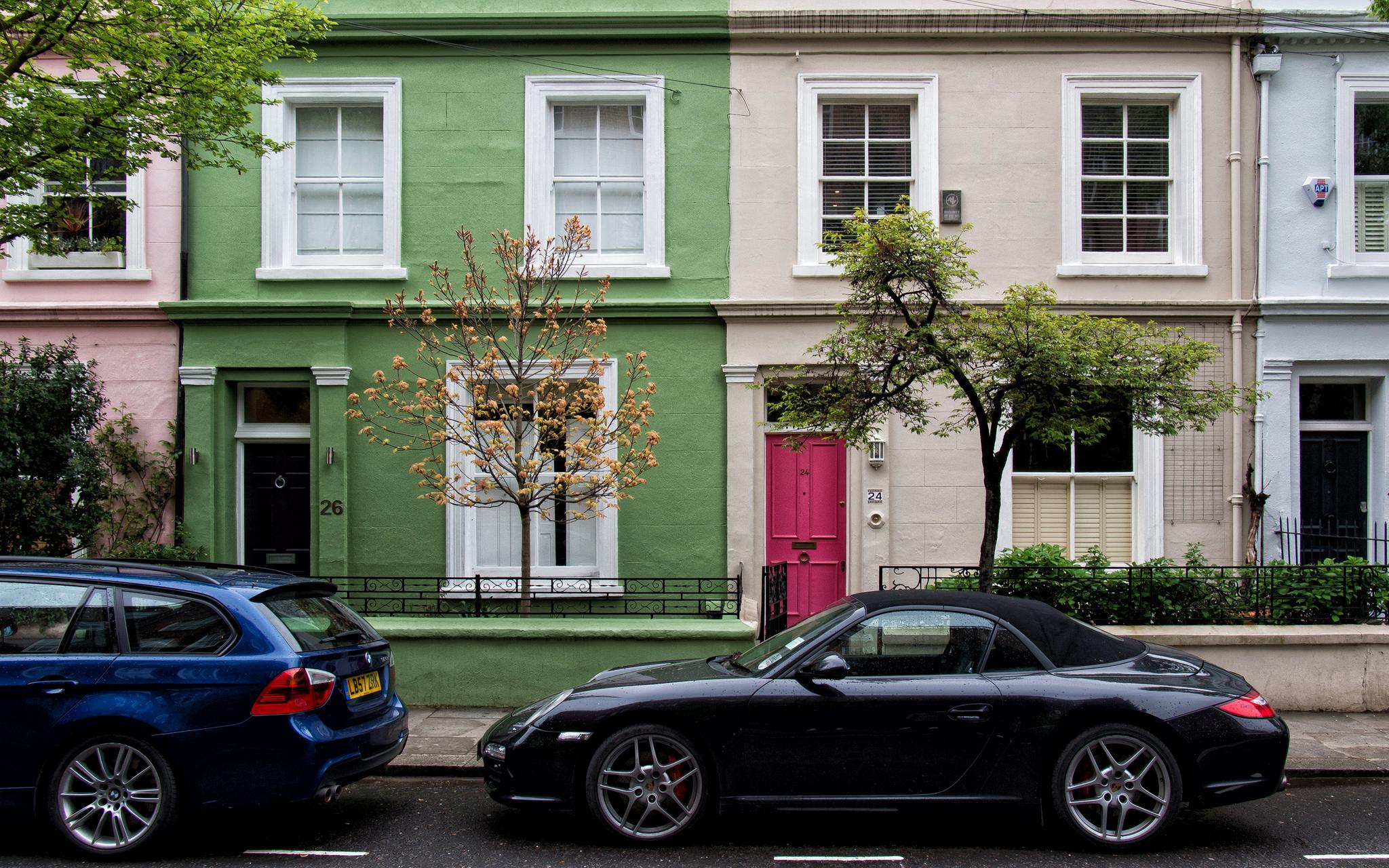 Ухоженные дворики Ноттинг-Хилл, Лондон