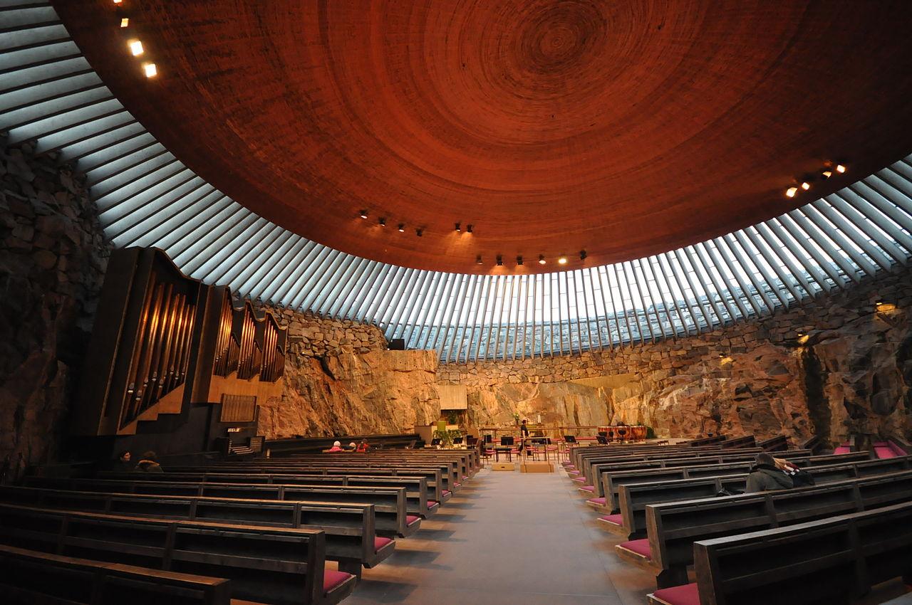 Церковь Темппелиаукио, стеклянный купол