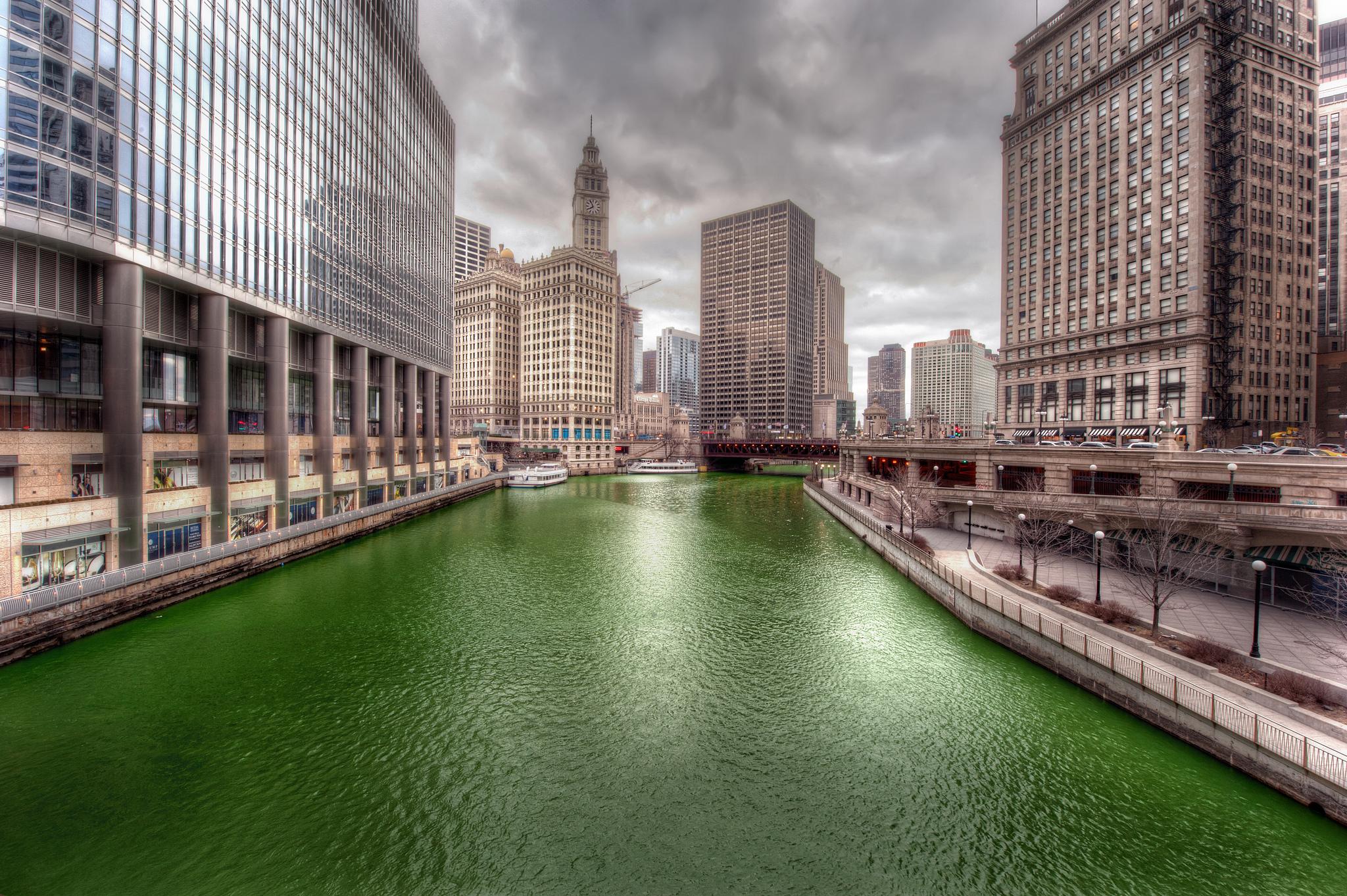 День святого Патрика в Чикаго