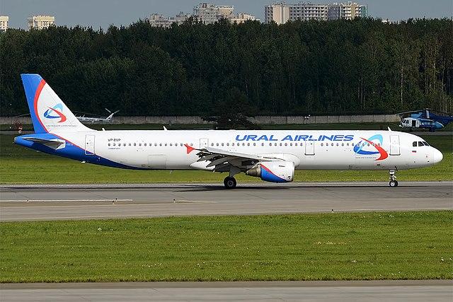 Ural Airlines, VP-BVP, Airbus A321-211 (30267870555) (3).jpg