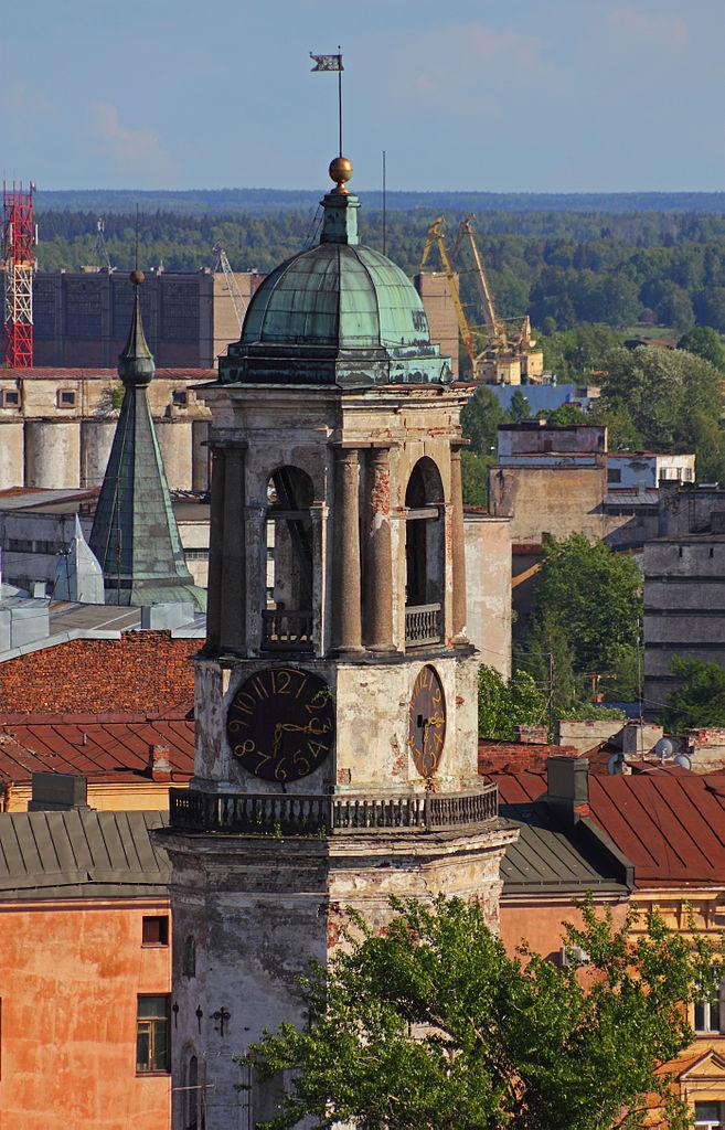 Вид на Часовую башню Выборга