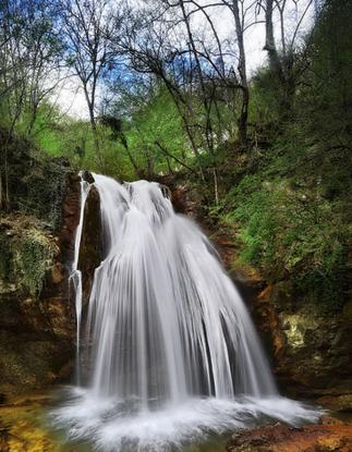 Вид на водопад Джур-Джур, Алушта