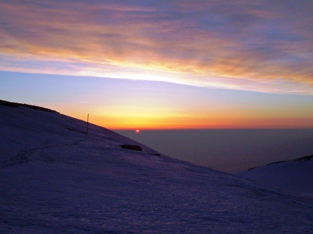 Красочный закат, Гора Олимп