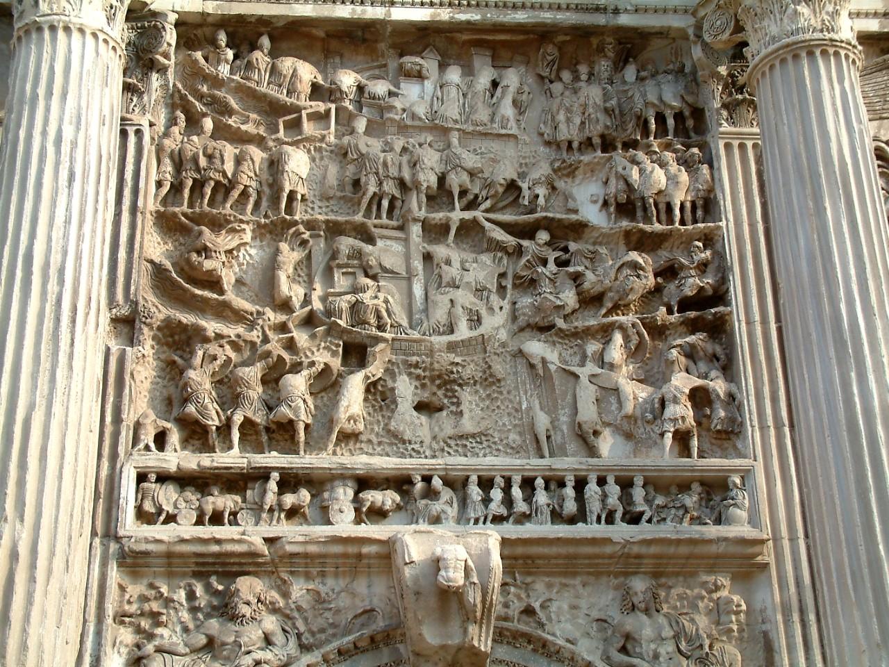 Римский форум; осада Селевкии, рельеф с арки Септимия Севера