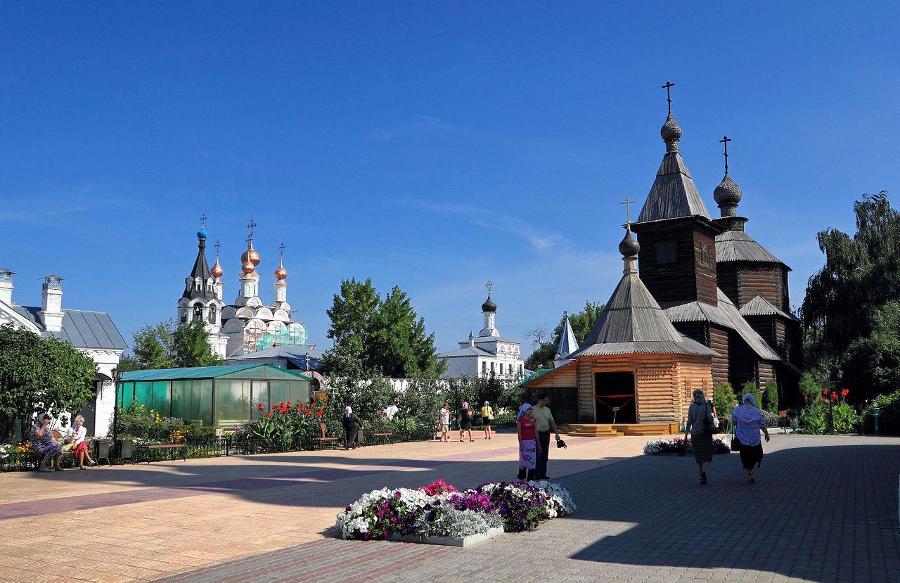 Свято-Троицкий монастырь, деpевянная цеpковь во имя Пpеподобного Сеpгия Радонежского