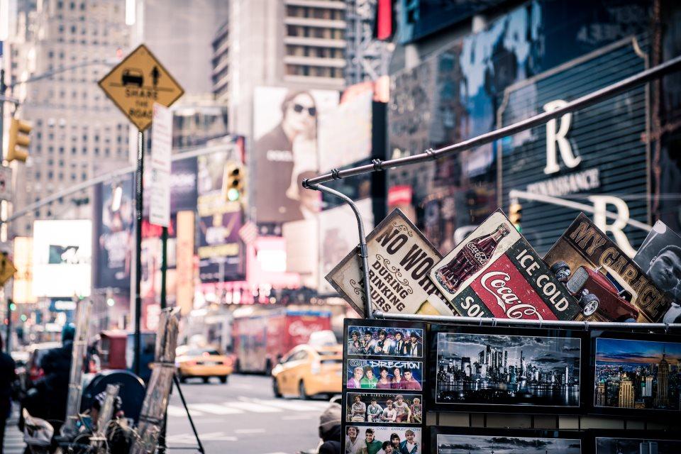 Американский колорит на улицах Нью-Йорка