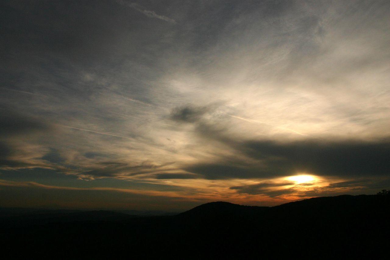 Закат, Венский лес, Австрия