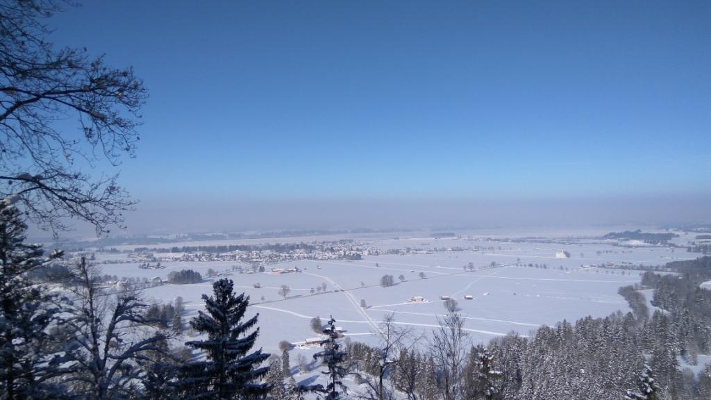 Зимний день в окрестностях замка Нойшванштайн