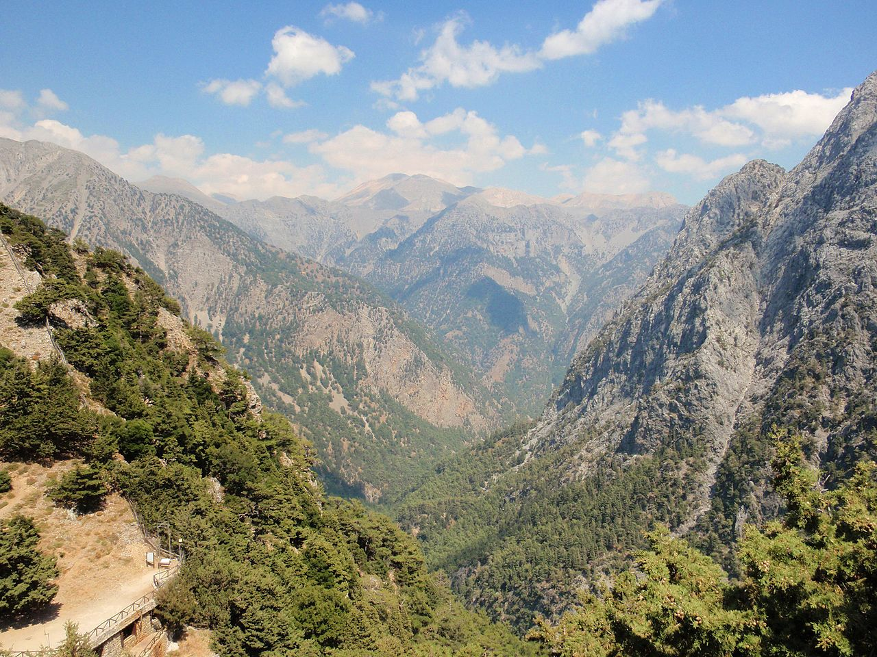 Обзорный вид на ущелье Самария, Крит