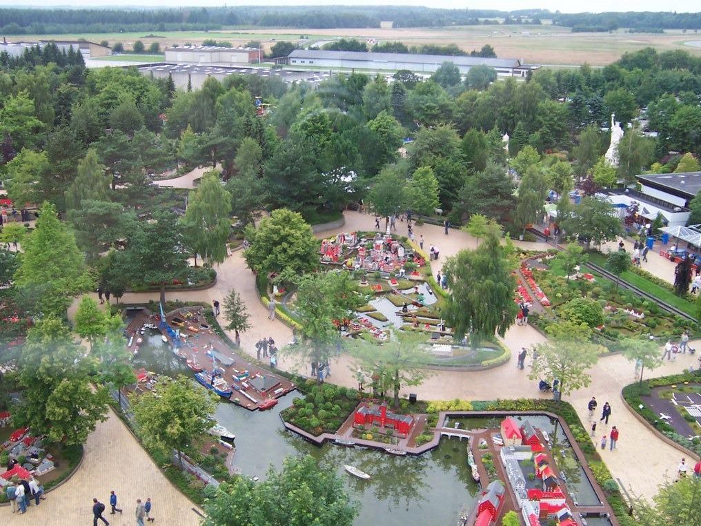 Леголенд в Дании, вид с воздуха