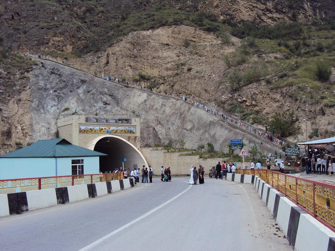 Тоннель под горой Ахульго