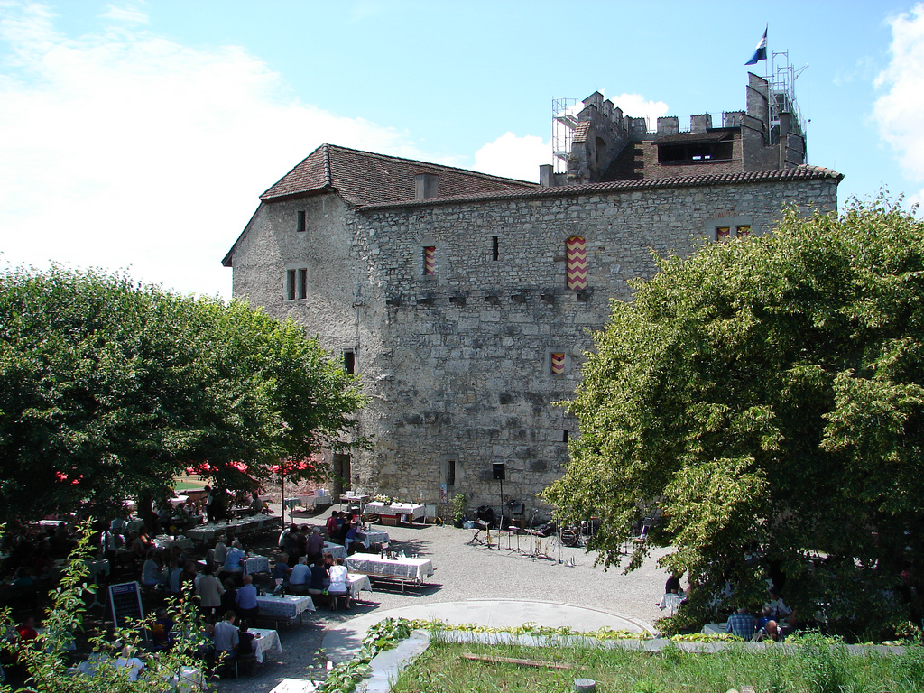 Замок Габсбург, двор