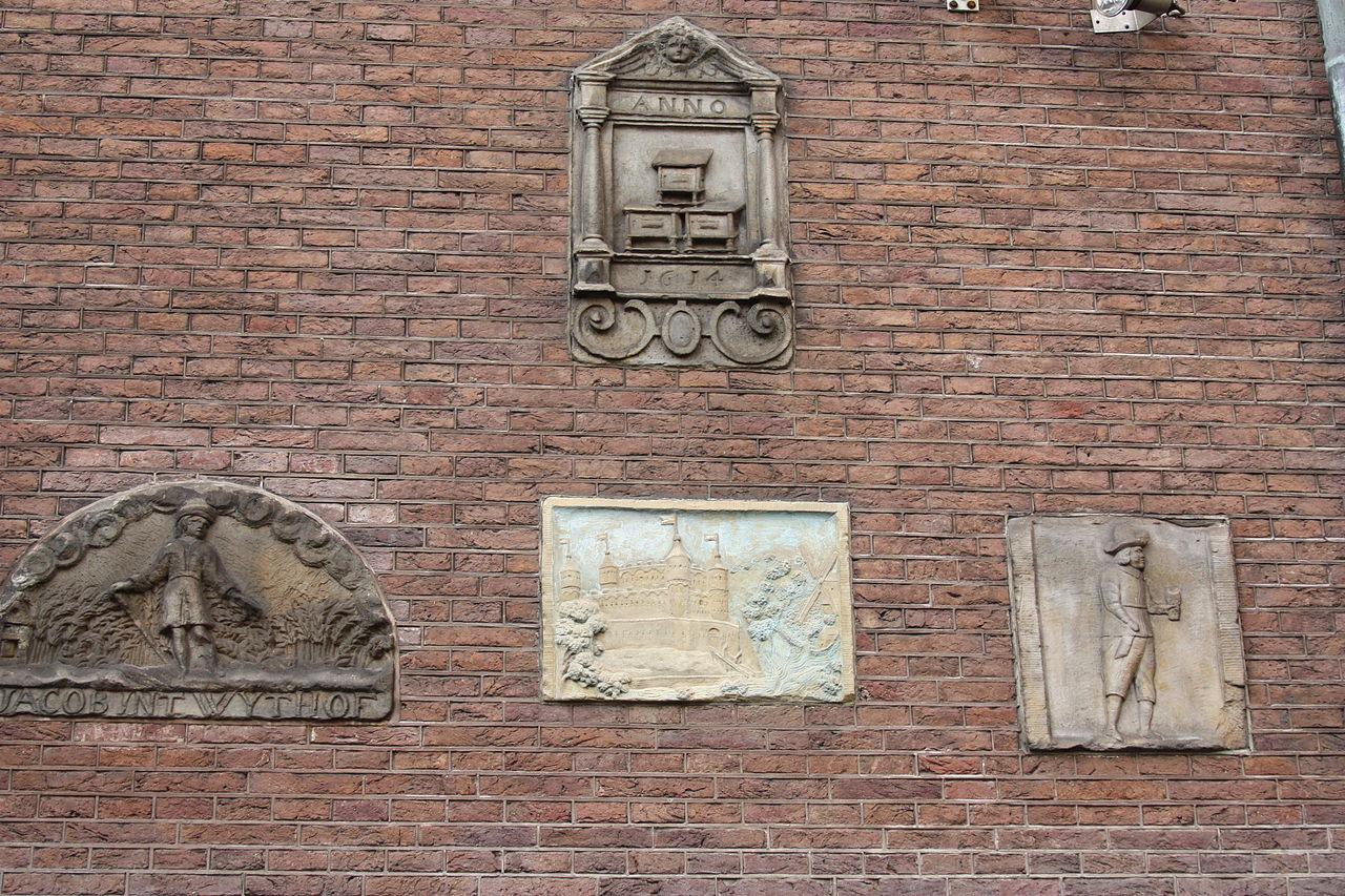 Исторический музей Амстердама, фрагмент стены