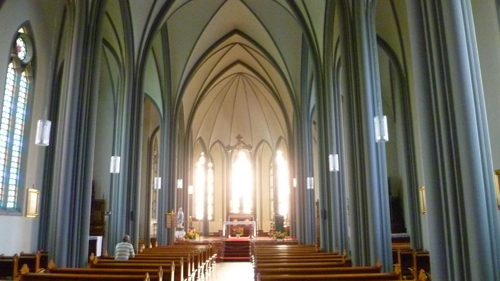 Кафедральный собор Ландакотскиркья, интерьер