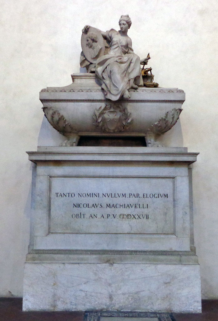 Базилика Санта-Кроче, гробница Никколо Макиавелли