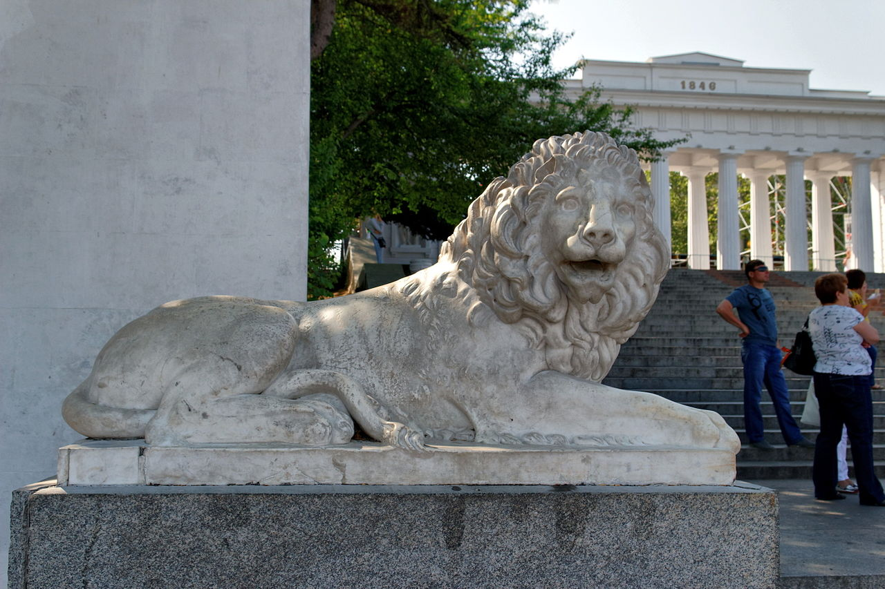 Графская пристань в Севастополе, скульптура льва
