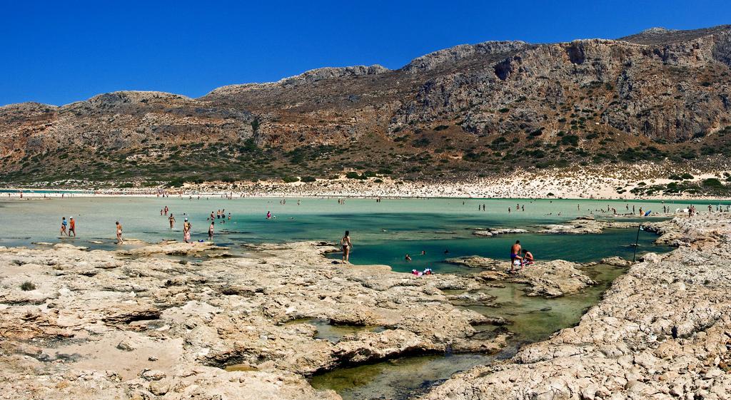Балос, один из популярных пляжей на острове Крит