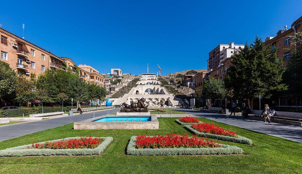 Вид на Каскад в Ереване