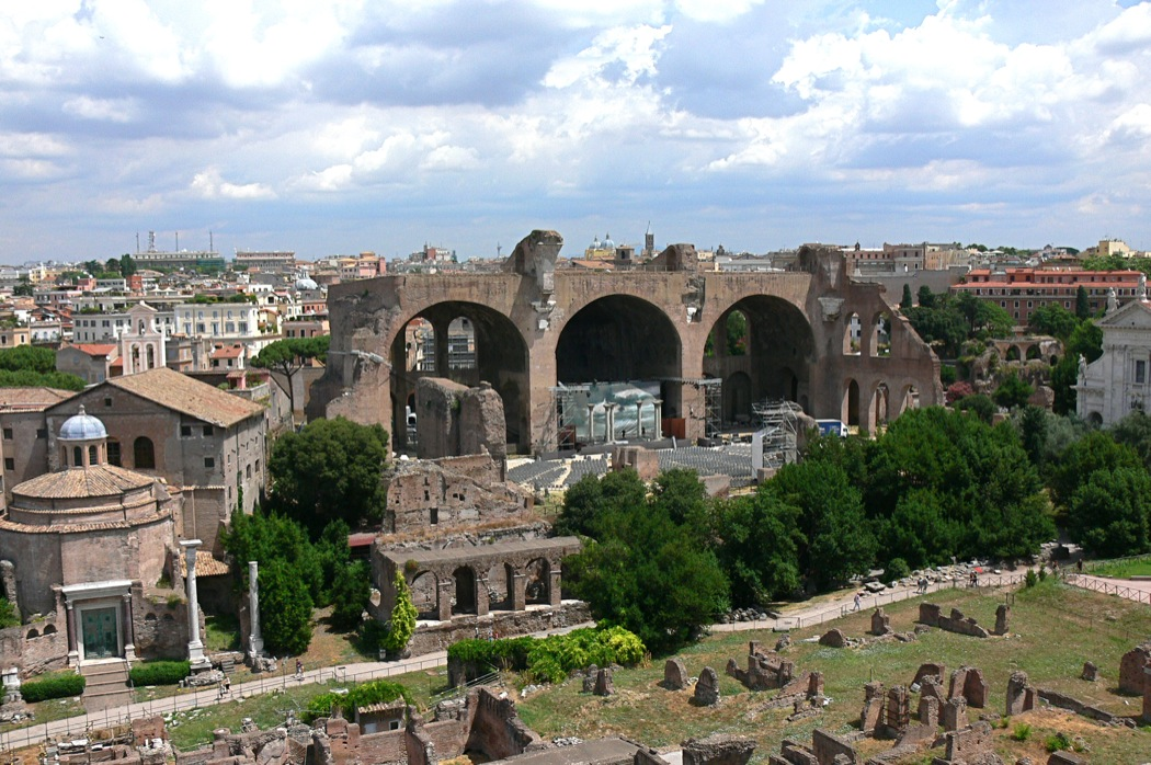 Вид на Палатин в Риме