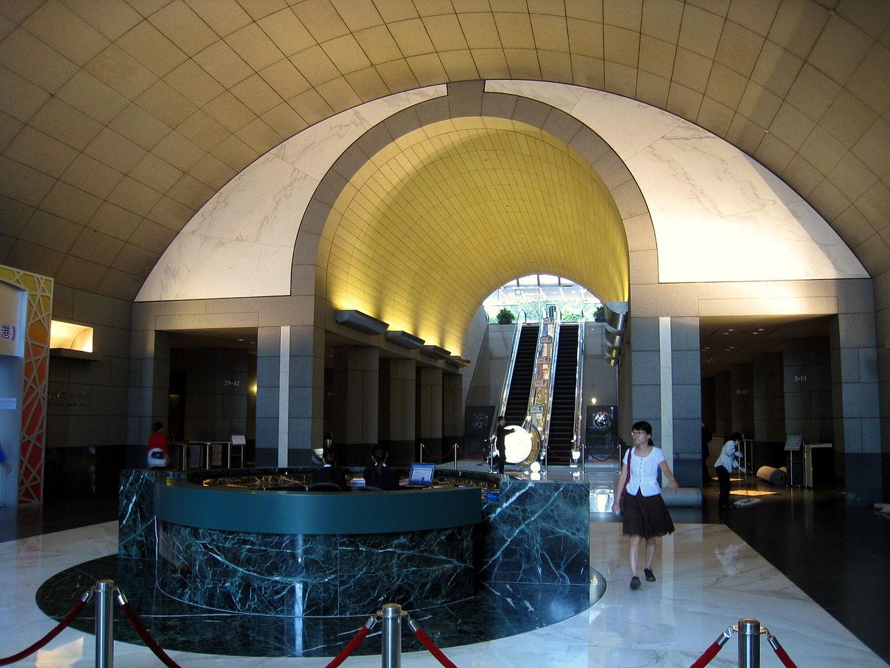 Башня Банка Китая, лобби