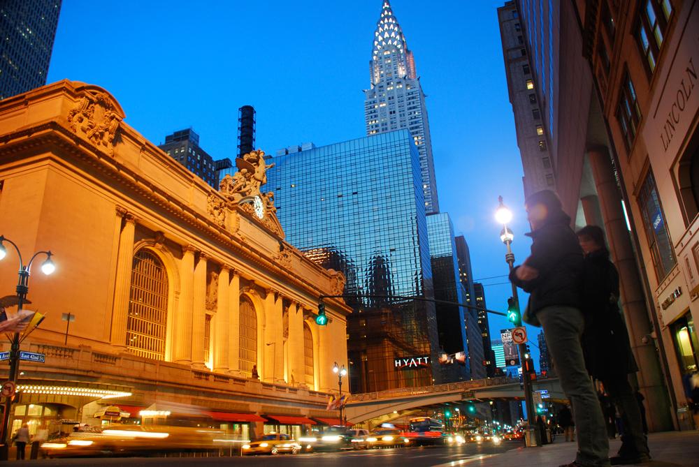 Вечерние улицы Манхэттена, Нью-Йорк