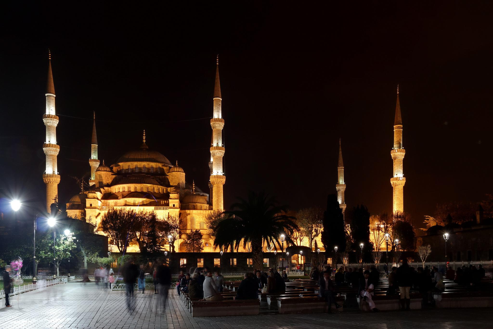 Голубая мечеть ночью, Стамбул