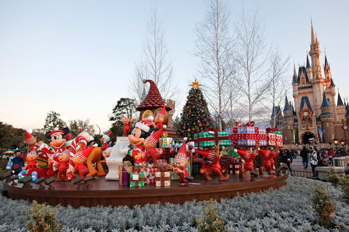 Рождество в токийском Диснейленде