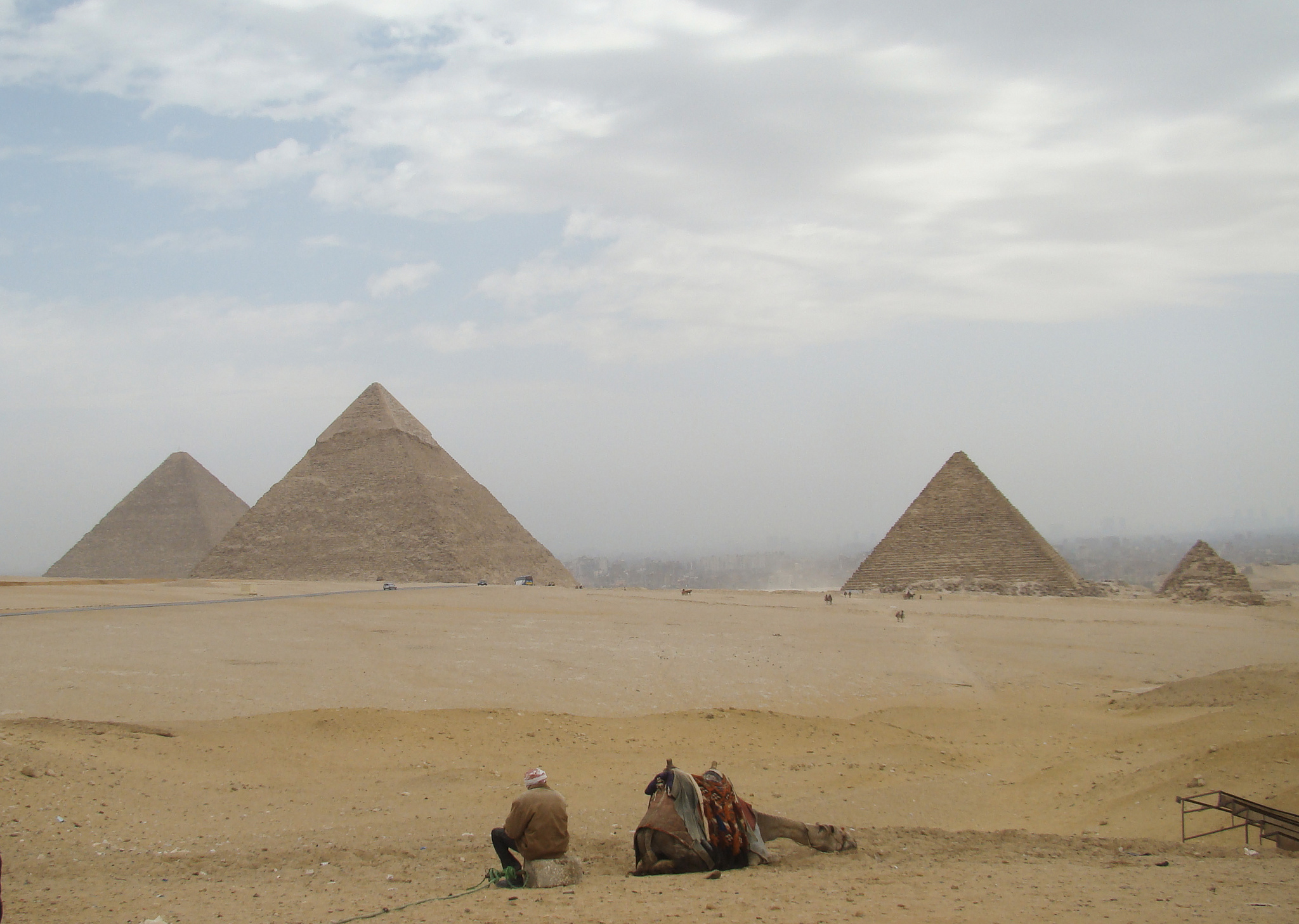 Вид на пирамиду Хефрена, Гиза