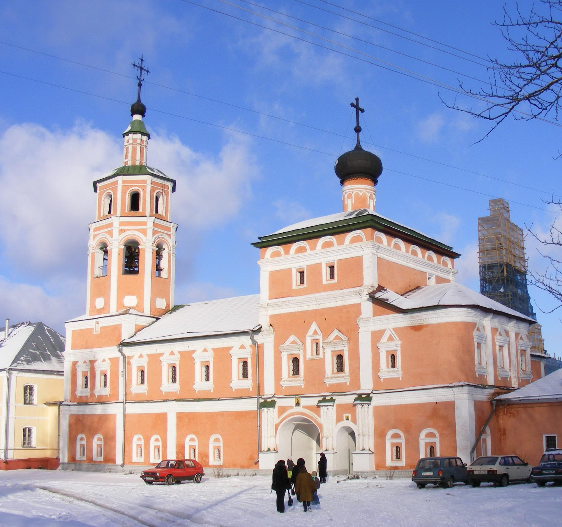Вяземский Иоанно-Предтеченский монастырь, надвратная Вознесенская церковь