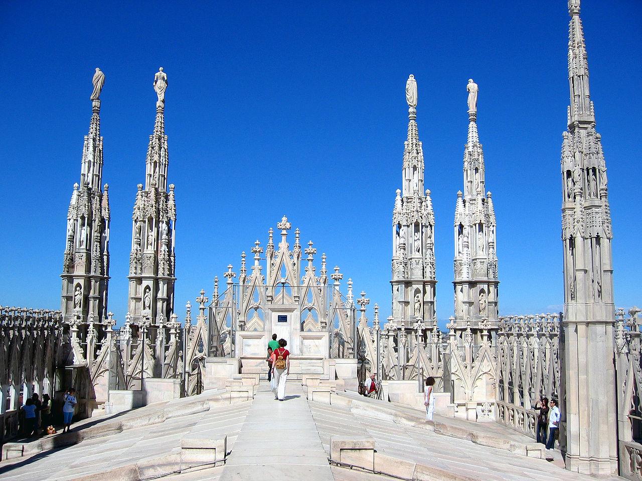 Миланский собор, на крыше