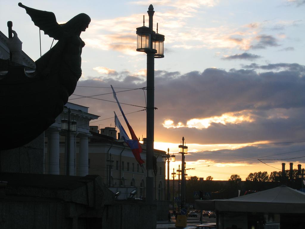 Закат на Васильевском острове, Санкт-Петербург