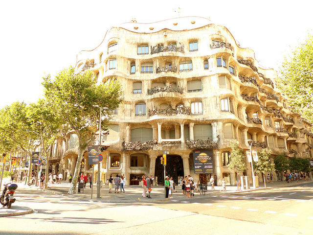 Фасад дома Мила, Барселона