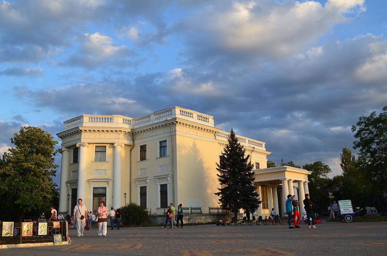 Воронцовский дворец, вид от Тещиного моста