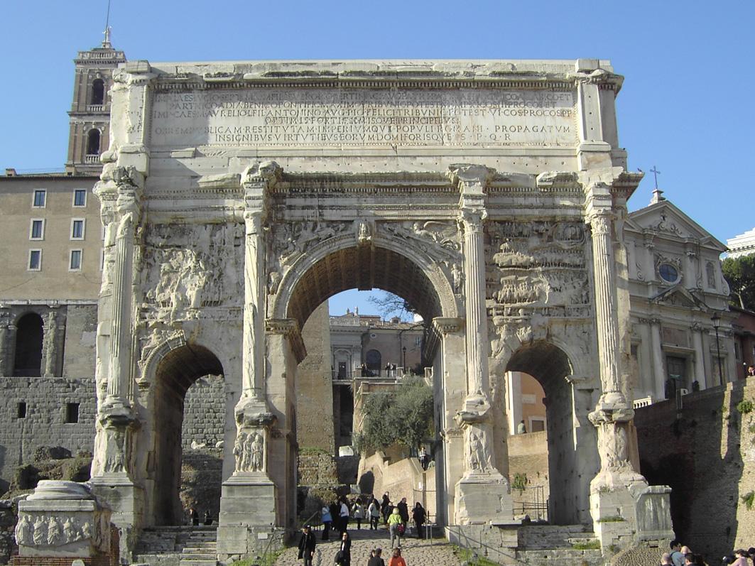 Римский форум, Триумфальная арка Септимия Севера
