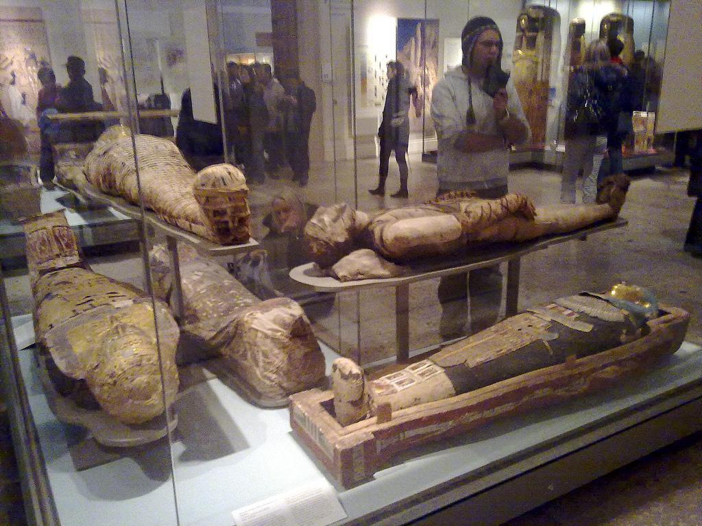 Британский музей в Лондоне, зал мумий