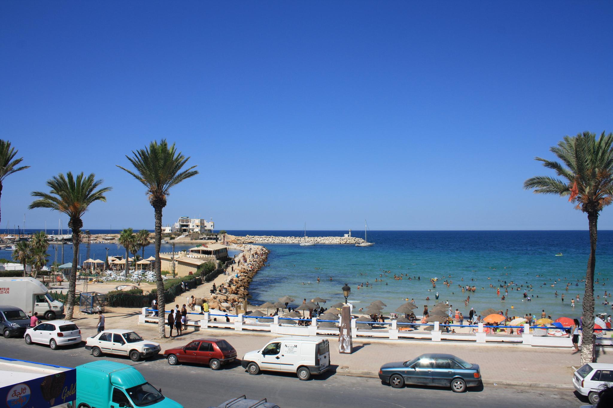 Вид на пляж Монастира, Тунис