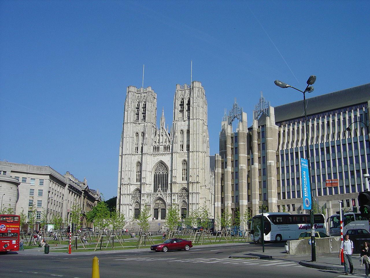 Вид на собор Св. Михаила в Брюсселе