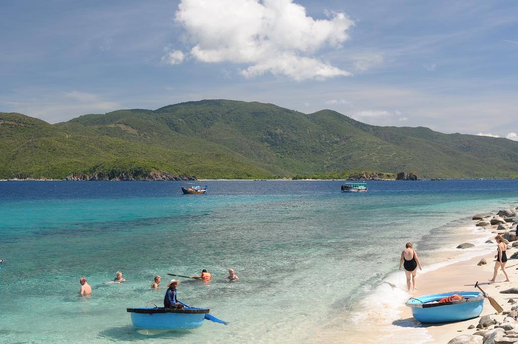 Остров Хон-Мун, пляж