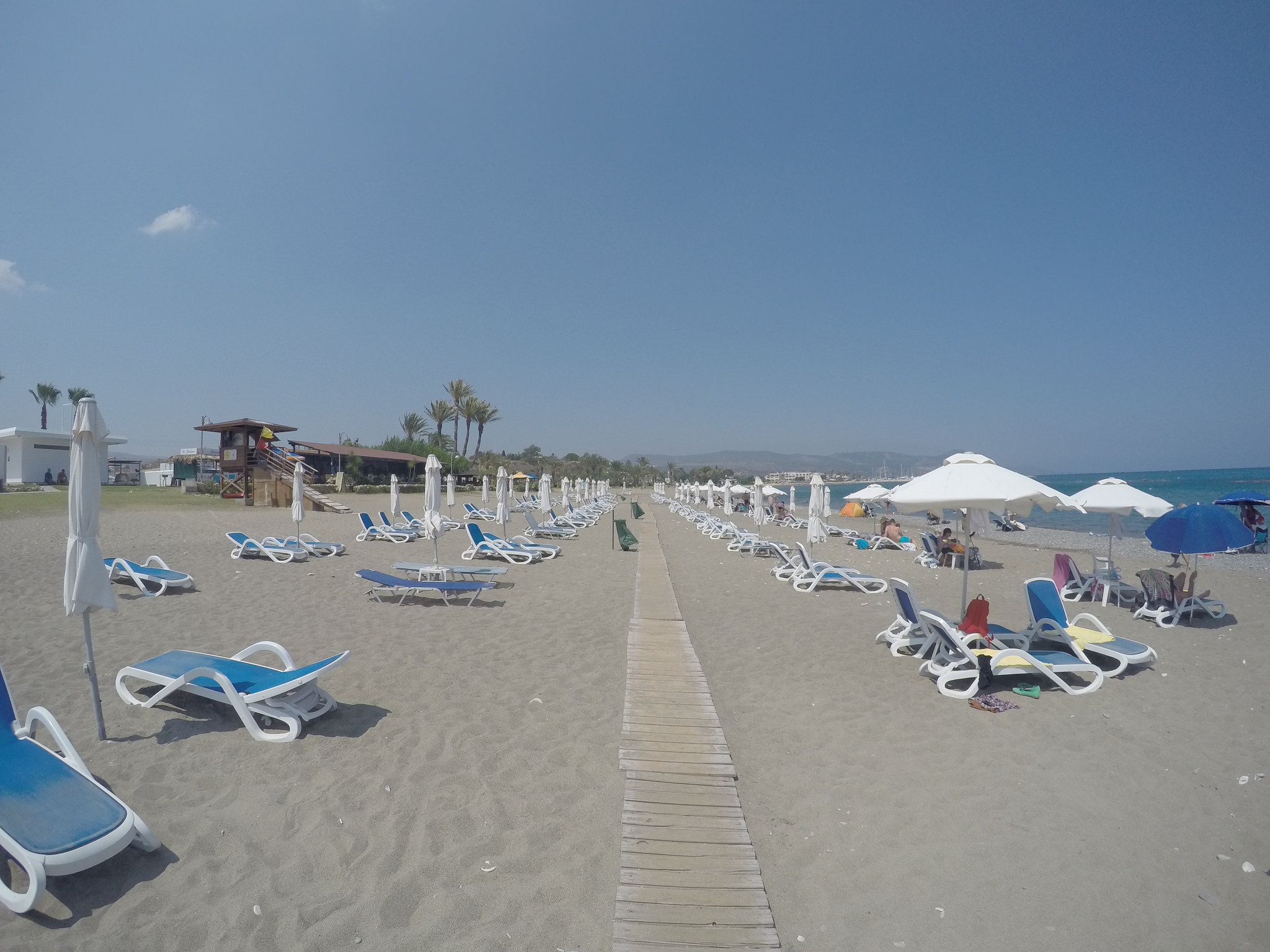 Панорама пляжа Лачи, Кипр