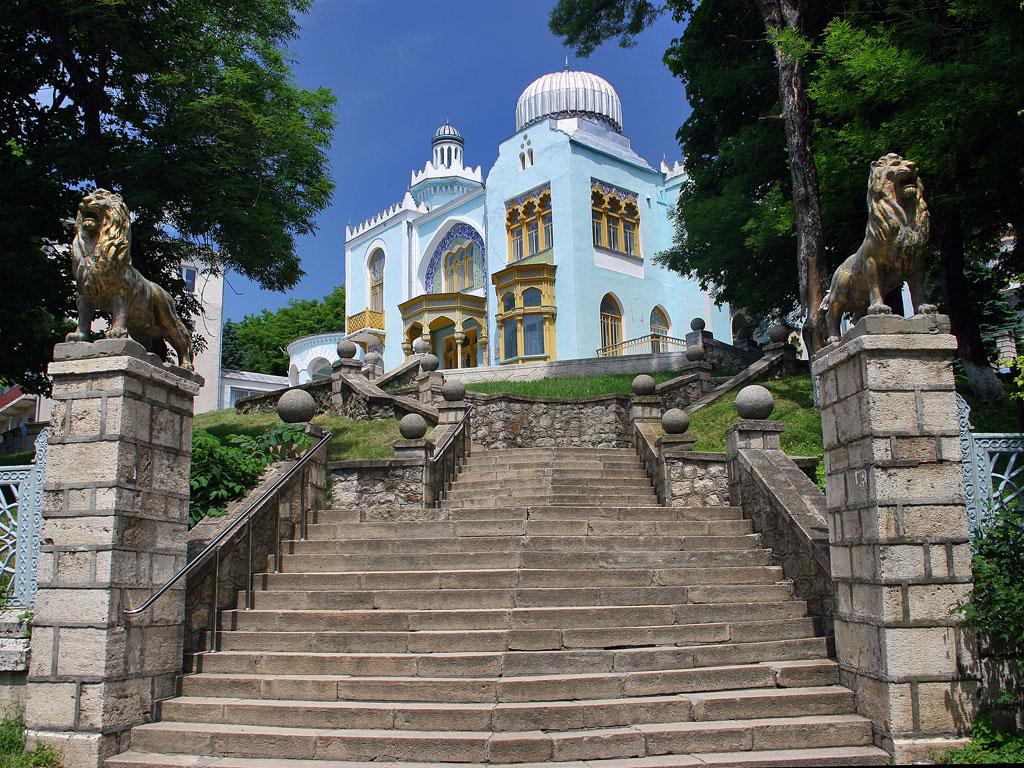 Дворец эмира бухарского в Железноводске, главный вход