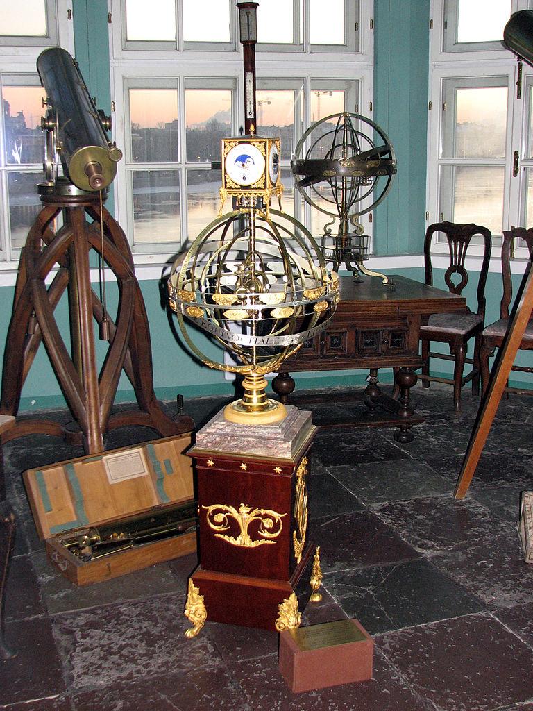 Кунсткамера, инструменты первой астрономической обсерватории Академии наук