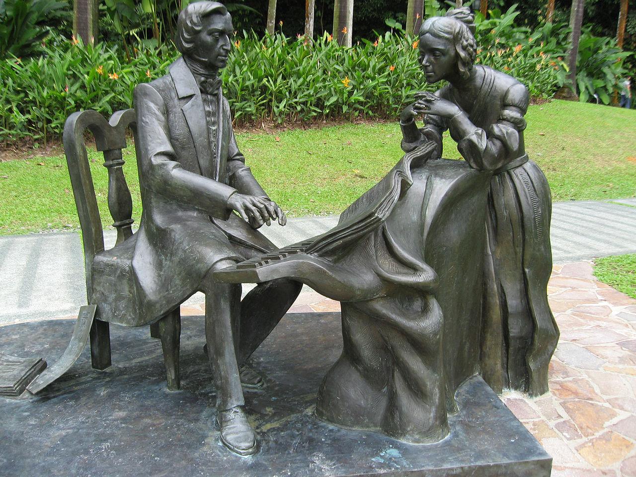 Памятник Шопену в ботаническом саду Сингапура