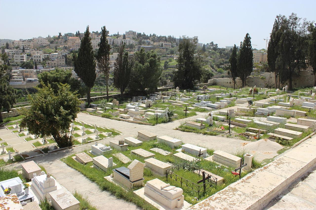 Гора Сион, францисканское кладбище