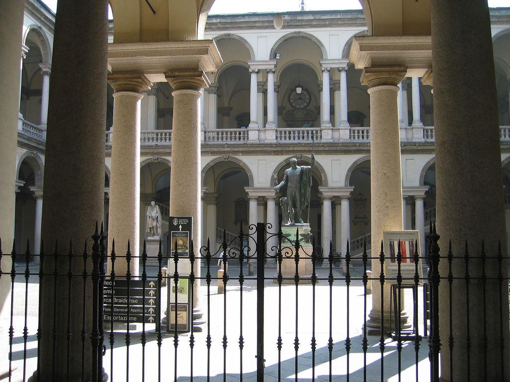 Галерея Брера, внутренний двор