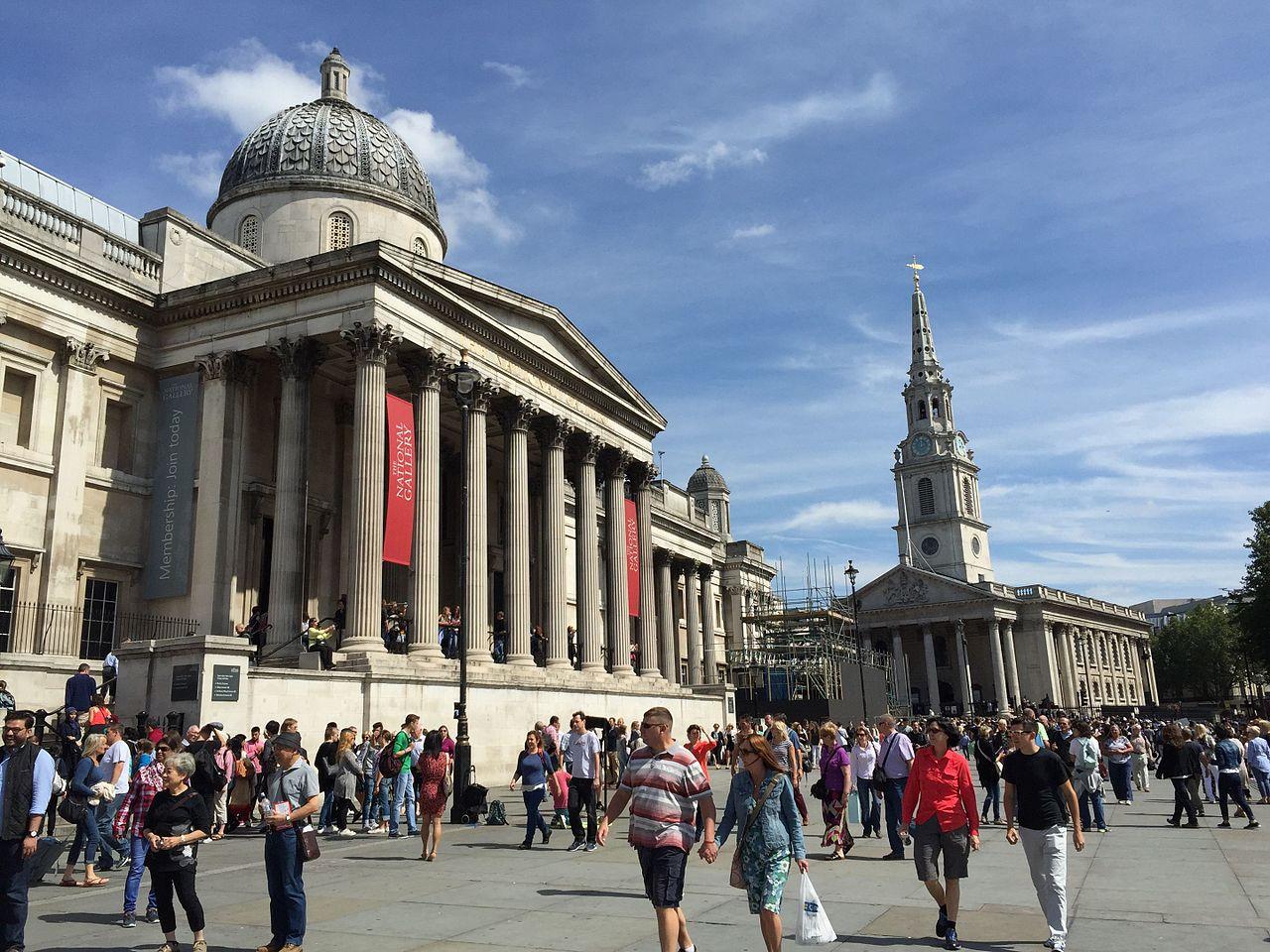 Национальная галерея в Лондоне, вход