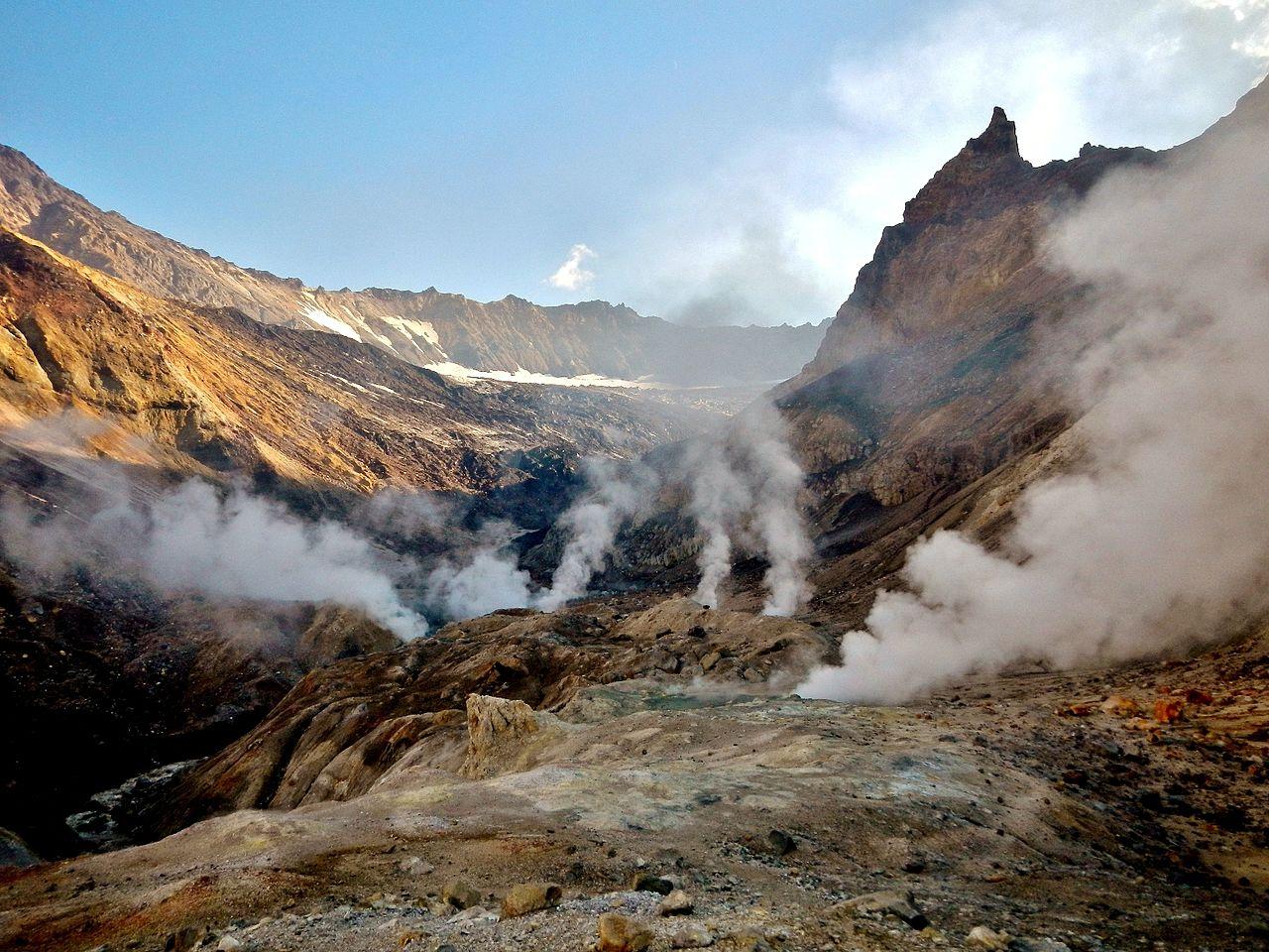 Вулкан Мутновский, термальные проявления