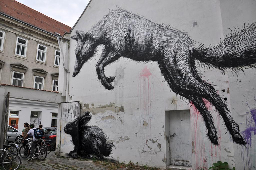 Галерея стрит-арта в Вене, одна из работ