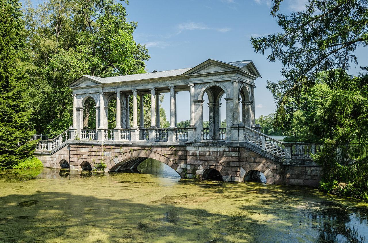 Екатерининский парк в Пушкине, Мраморный мост