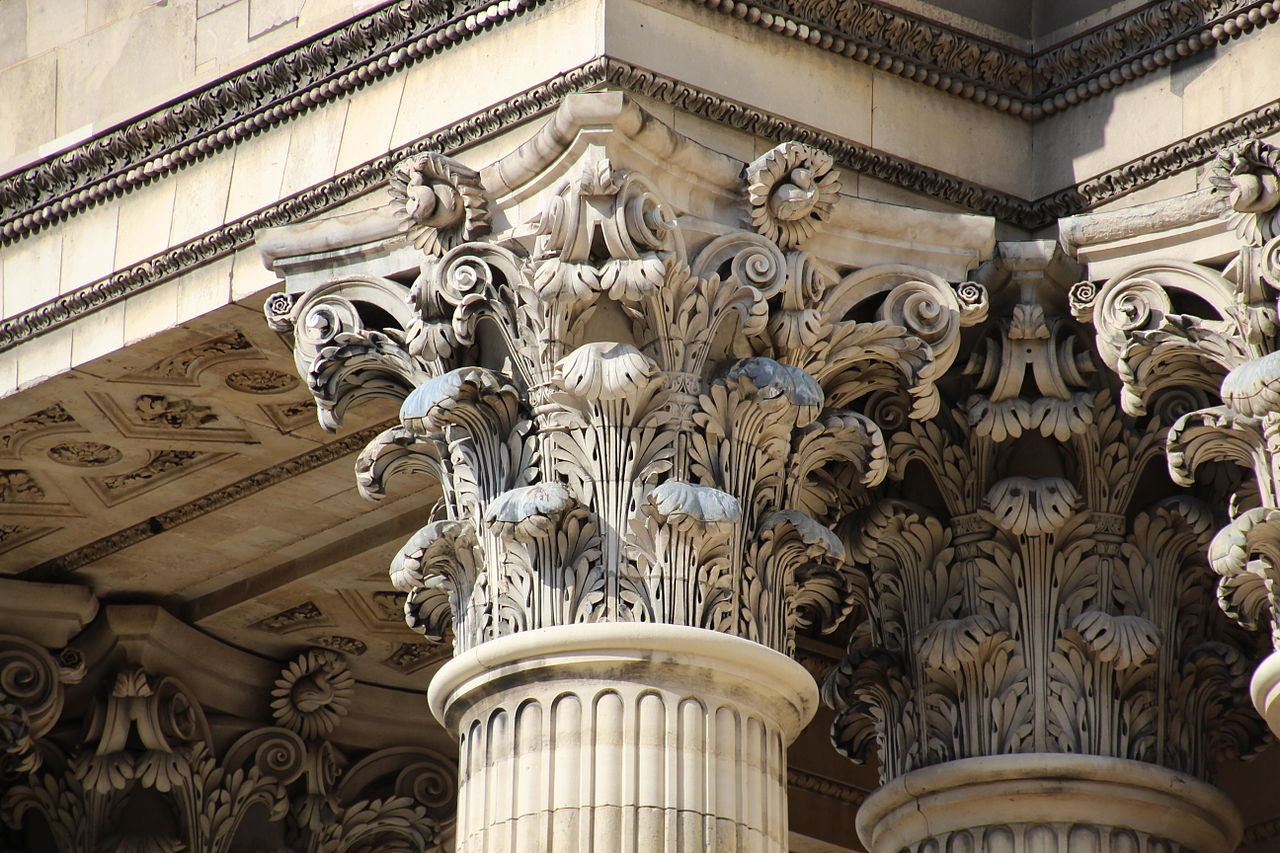Пантеон в Париже, капитель колонны
